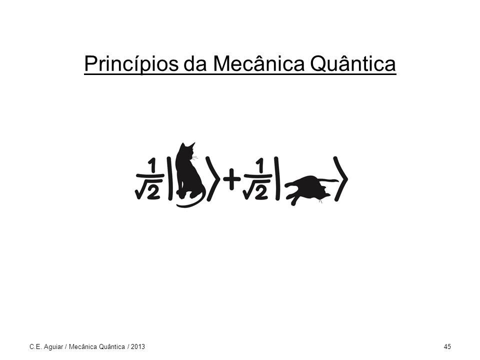 Princípios da Mecânica Quântica C.E. Aguiar / Mecânica Quântica / 201345