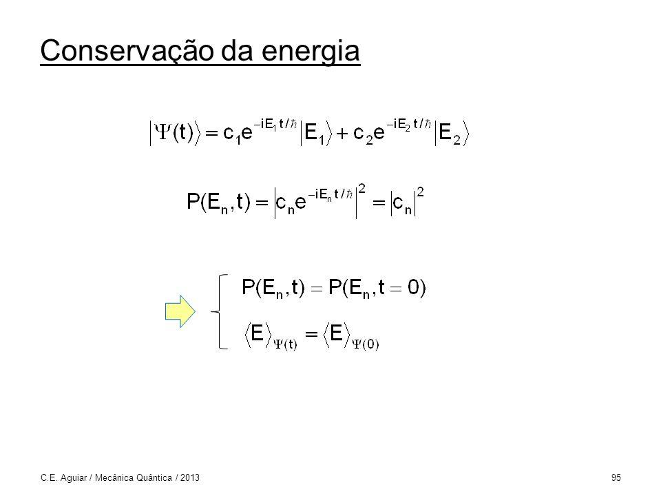 Conservação da energia C.E. Aguiar / Mecânica Quântica / 201395