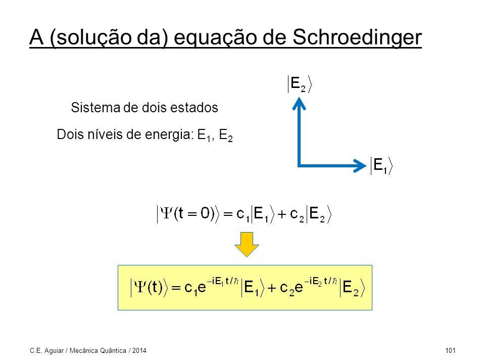 A (solução da) equação de Schroedinger C.E.