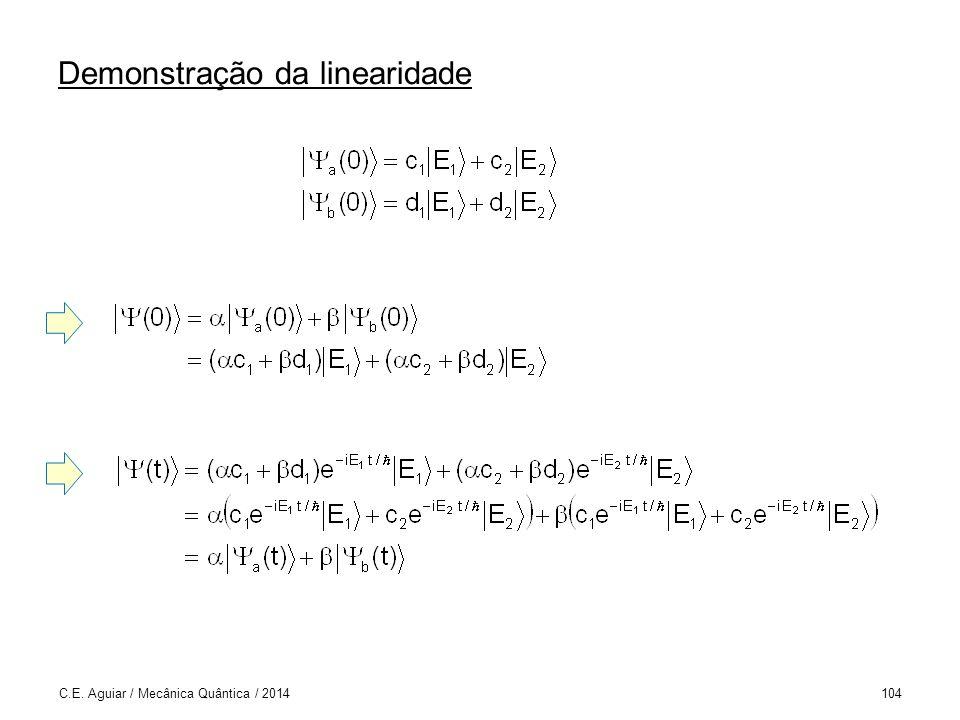 Demonstração da linearidade C.E. Aguiar / Mecânica Quântica / 2014104