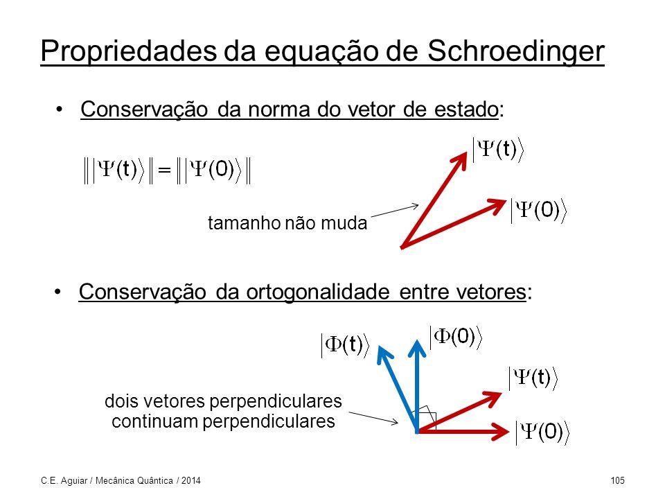 Propriedades da equação de Schroedinger C.E.