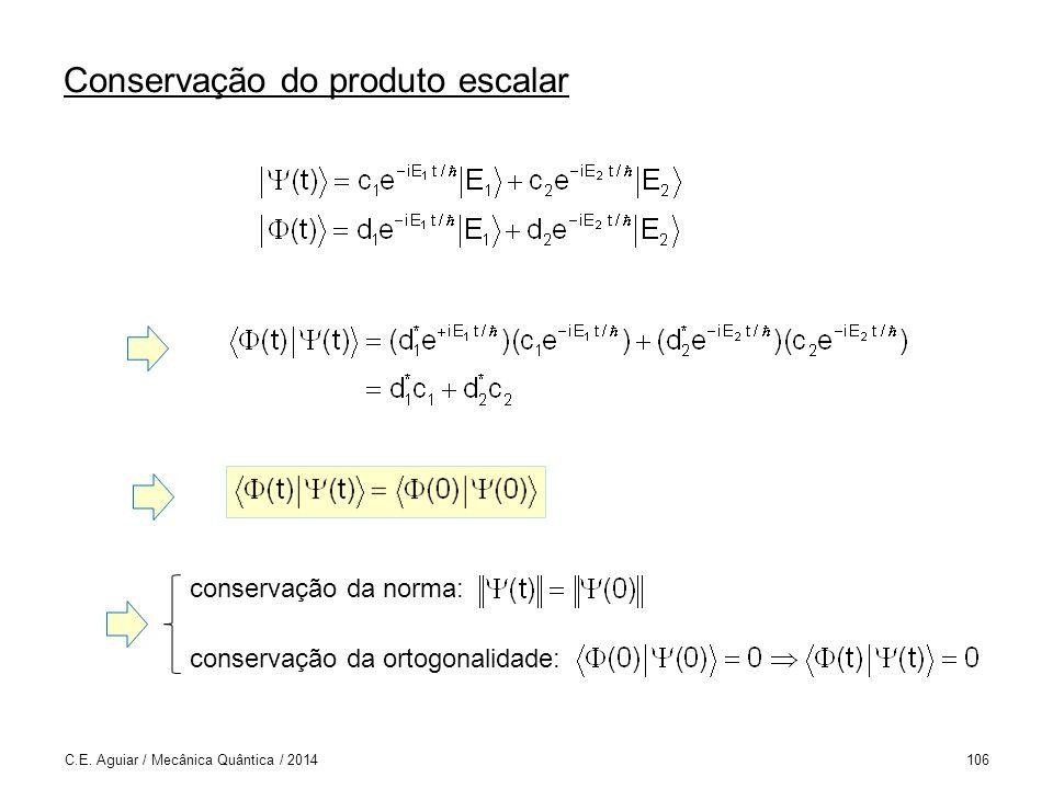 Conservação do produto escalar C.E.