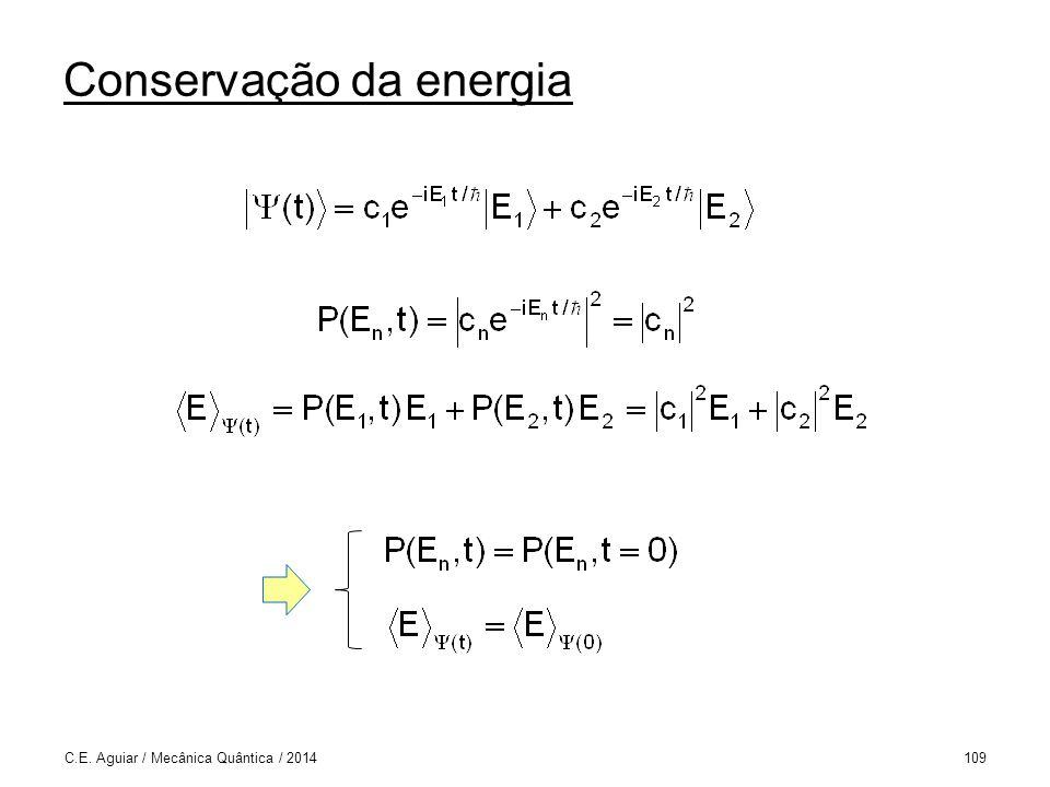 Conservação da energia C.E. Aguiar / Mecânica Quântica / 2014109
