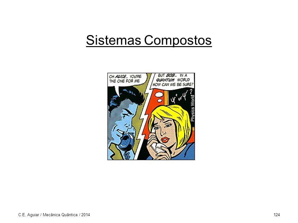 Sistemas Compostos C.E. Aguiar / Mecânica Quântica / 2014124