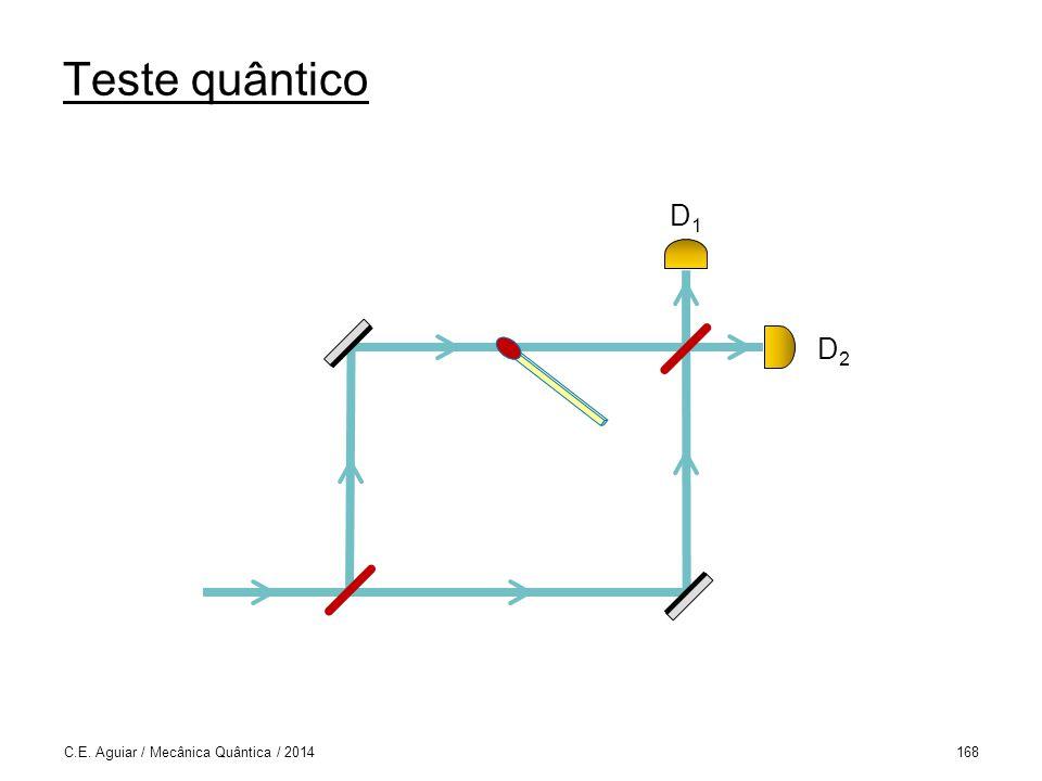 Teste quântico C.E. Aguiar / Mecânica Quântica / 2014168 D1D1 D2D2