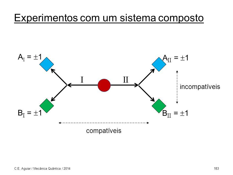 Experimentos com um sistema composto C.E.