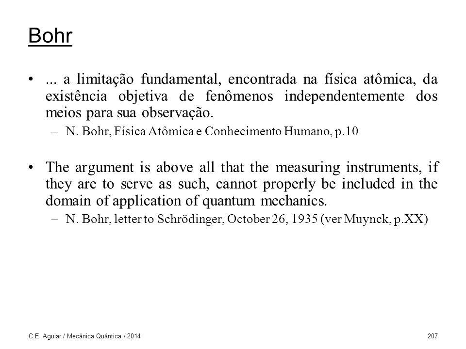 C.E.Aguiar / Mecânica Quântica / 2014207 Bohr...