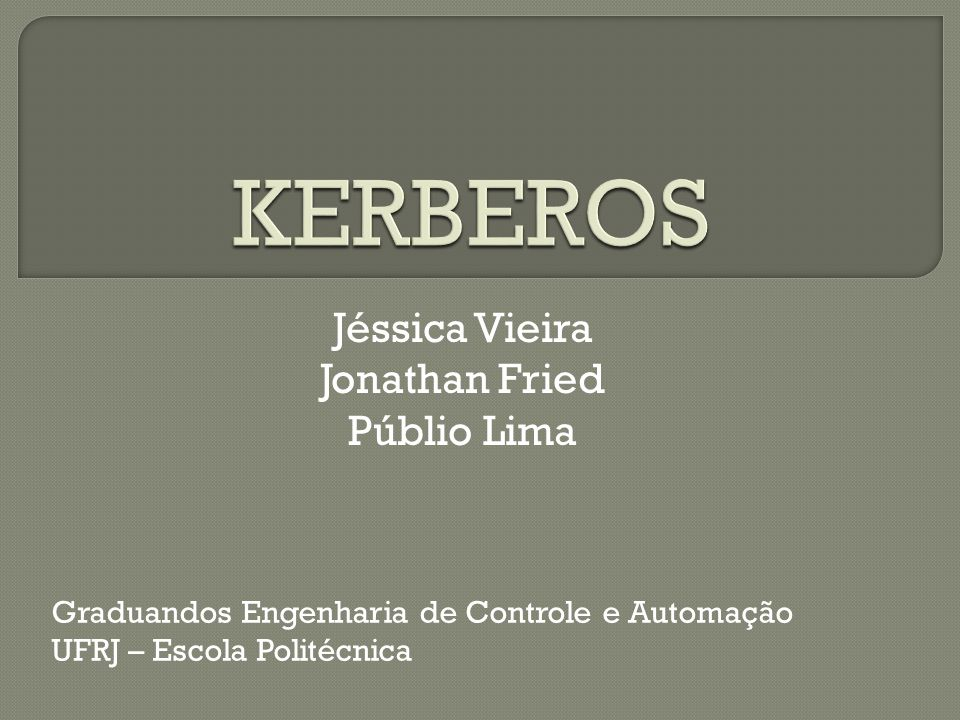Jéssica Vieira Jonathan Fried Públio Lima Graduandos Engenharia de Controle e Automação UFRJ – Escola Politécnica