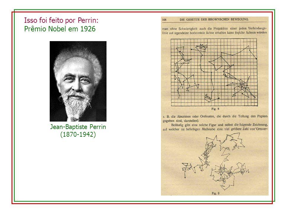 Jean-Baptiste Perrin (1870-1942) Isso foi feito por Perrin: Prêmio Nobel em 1926
