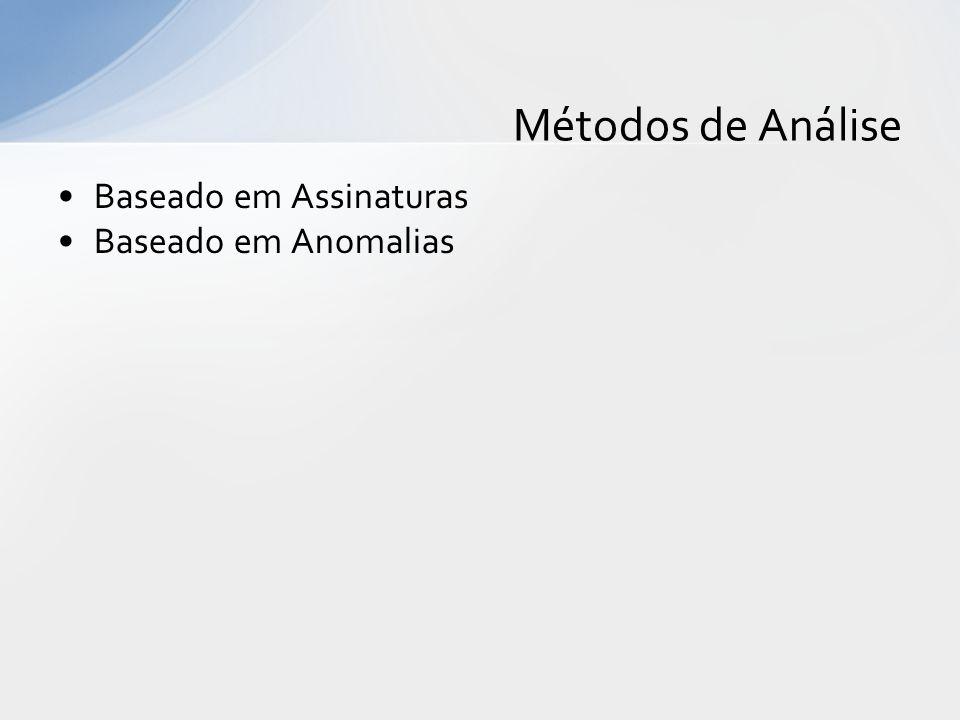 Baseado em Assinaturas Baseado em Anomalias Métodos de Análise