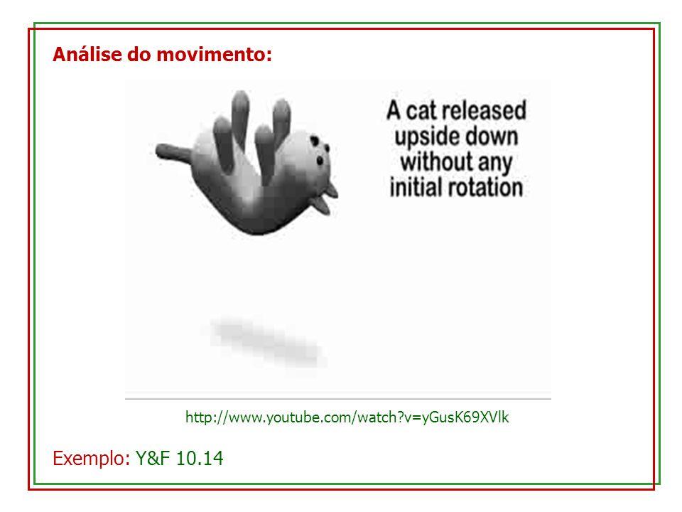 Análise do movimento: http://www.youtube.com/watch?v=yGusK69XVlk Exemplo: Y&F 10.14