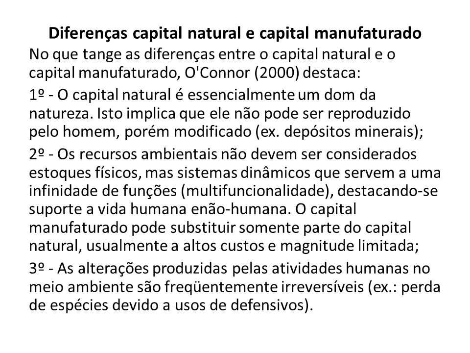 Capital natural renovável.