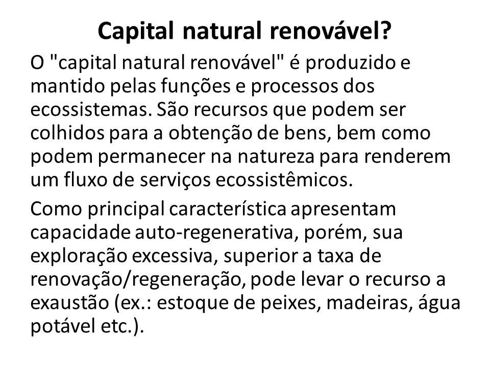 Capital natural renovável.