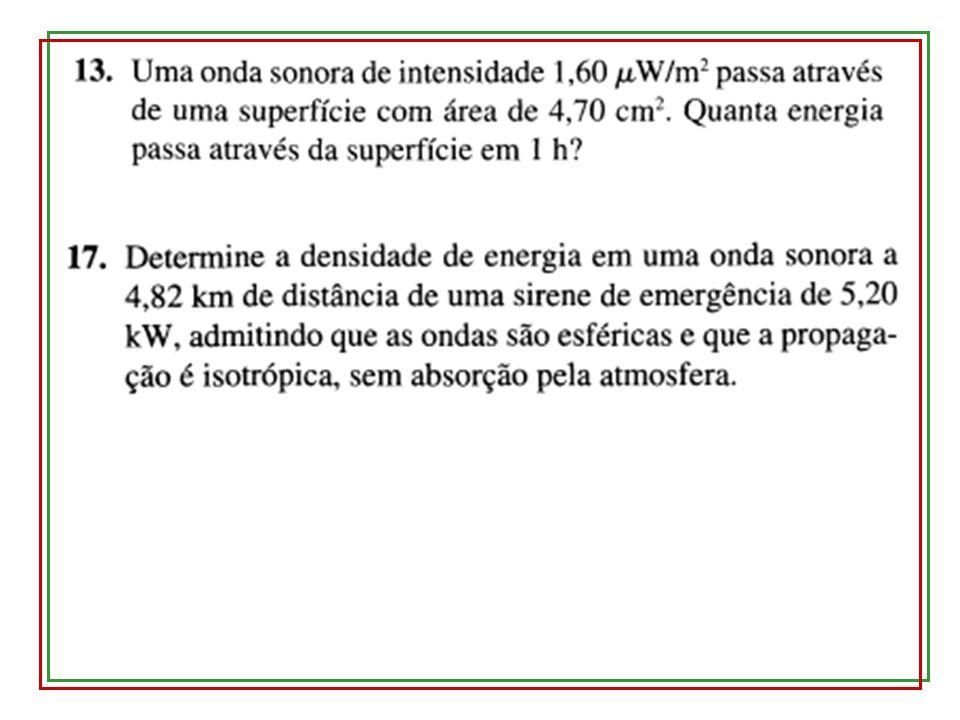 19.5 – Interferência de ondas sonoras Mostrar APPLET: http://ngsir.netfirms.com/englishhtm/Interference.htm Duas fontes sonoras em fase Até o ponto P, há dois caminhos com diferença de comprimento ΔL A diferença de caminho percorrido ΔL causa uma diferença de fase ΔΦ entre as duas ondas em P: Interferência construtiva: Interferência destrutiva: Questão: quando estou de olhos fechados, como sei a direção de onde vem o som.