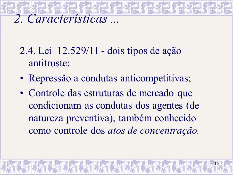 16 3.Alguns conceitos básicos da lei antitruste brasileira 3.1.