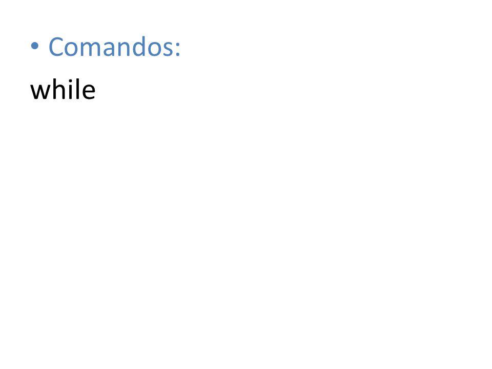 Comandos: while