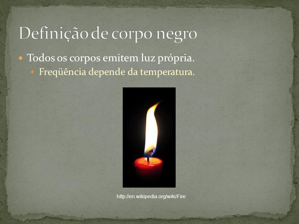 Todos os corpos emitem luz própria. Freqüência depende da temperatura. http://en.wikipedia.org/wiki/Fire