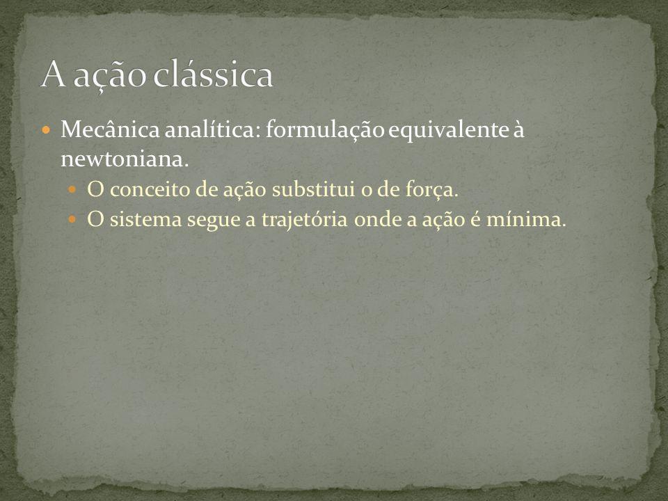 Mecânica analítica: formulação equivalente à newtoniana.