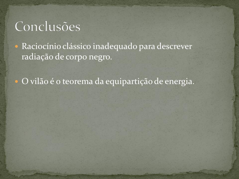 O vilão é o teorema da equipartição de energia.