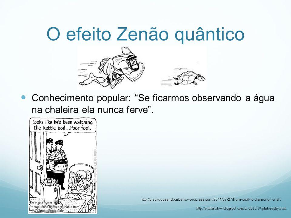 O efeito Zenão quântico Conhecimento popular: Se ficarmos observando a água na chaleira ela nunca ferve.