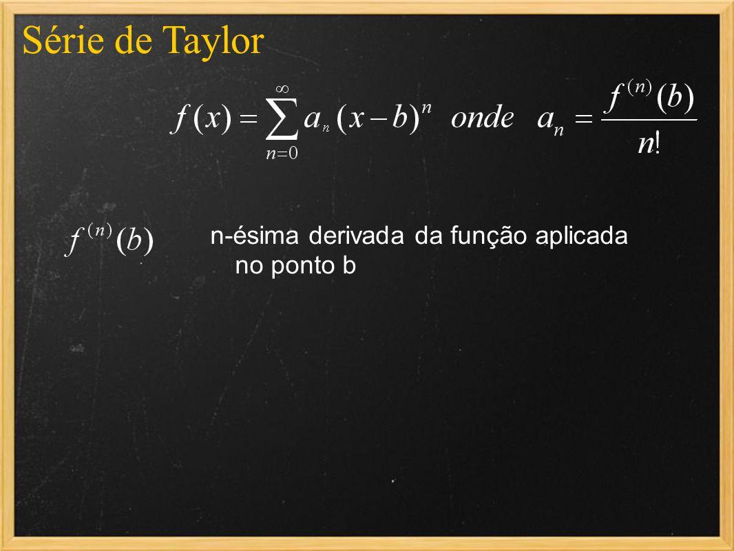 n-ésima derivada da função aplicada no ponto b