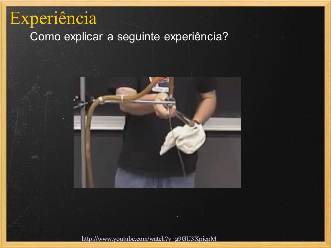 Experiência Como explicar a seguinte experiência? http://www.youtube.com/watch?v=g9GU3XpiepM