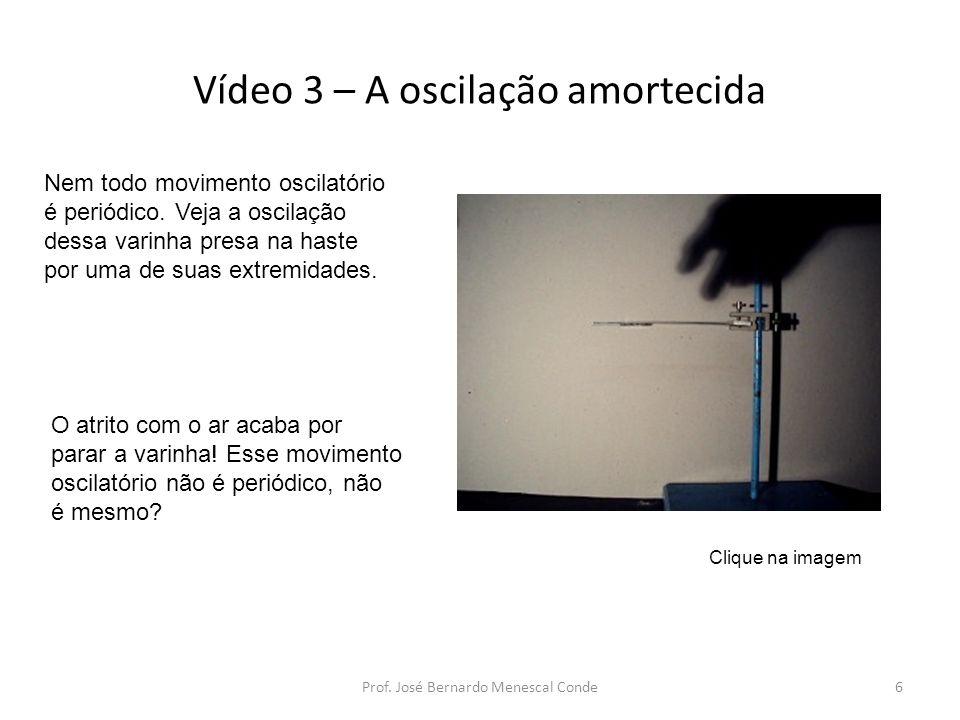 Vídeo 3 – A oscilação amortecida Prof.