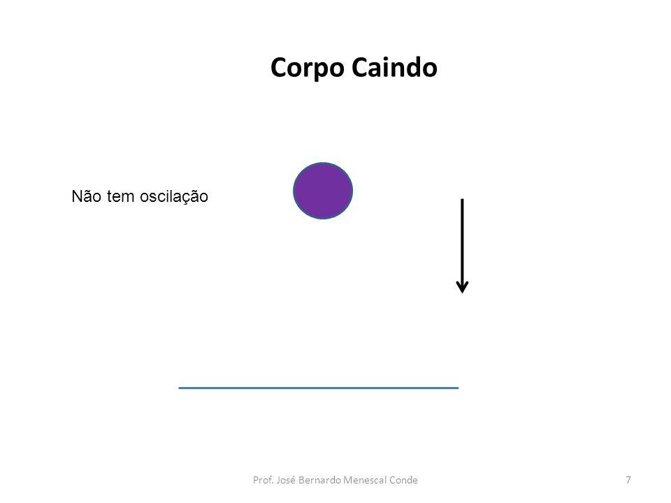 Corpo Caindo Não tem oscilação 7Prof. José Bernardo Menescal Conde