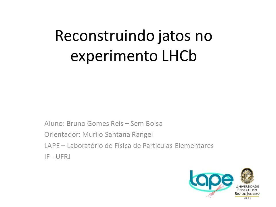 Reconstruindo jatos no experimento LHCb Aluno: Bruno Gomes Reis – Sem Bolsa Orientador: Murilo Santana Rangel LAPE – Laboratório de Física de Particul
