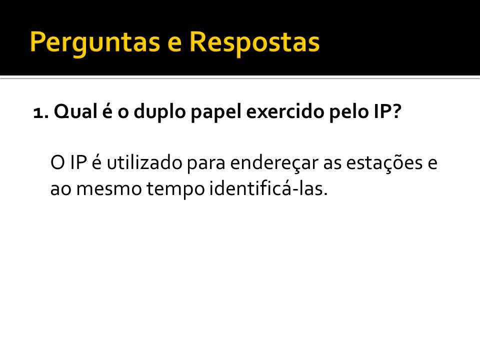 1. Qual é o duplo papel exercido pelo IP.