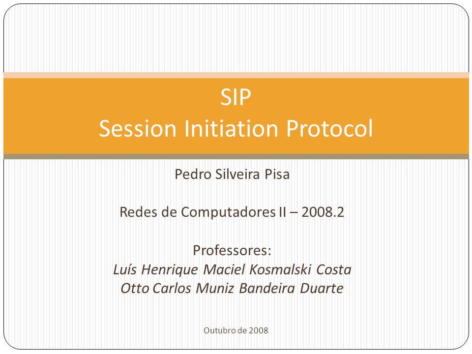 Pedro Silveira Pisa Redes de Computadores II – 2008.2 Professores: Luís Henrique Maciel Kosmalski Costa Otto Carlos Muniz Bandeira Duarte Outubro de 2