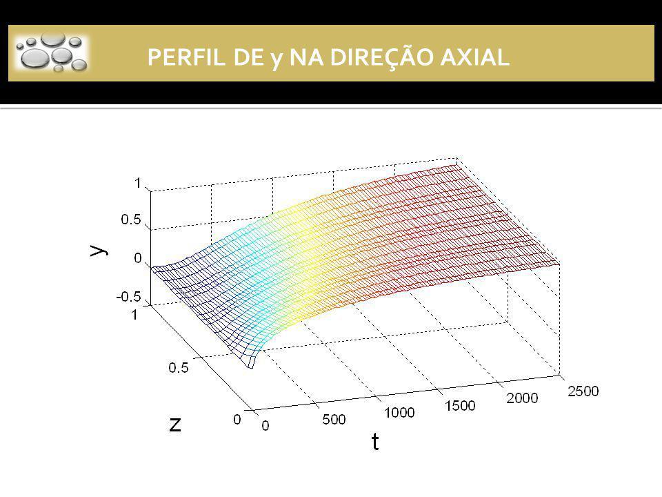 PERFIL DE y NA DIREÇÃO AXIAL