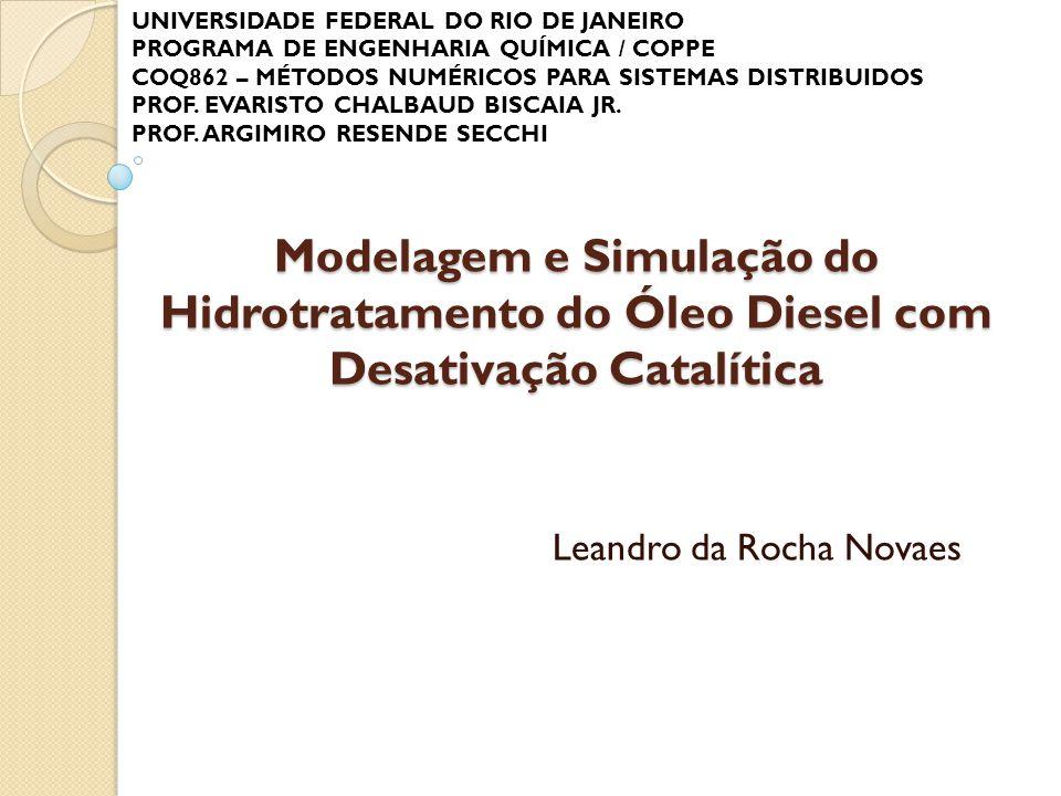 Modelagem e Simulação do Hidrotratamento do Óleo Diesel com Desativação Catalítica Leandro da Rocha Novaes UNIVERSIDADE FEDERAL DO RIO DE JANEIRO PROG