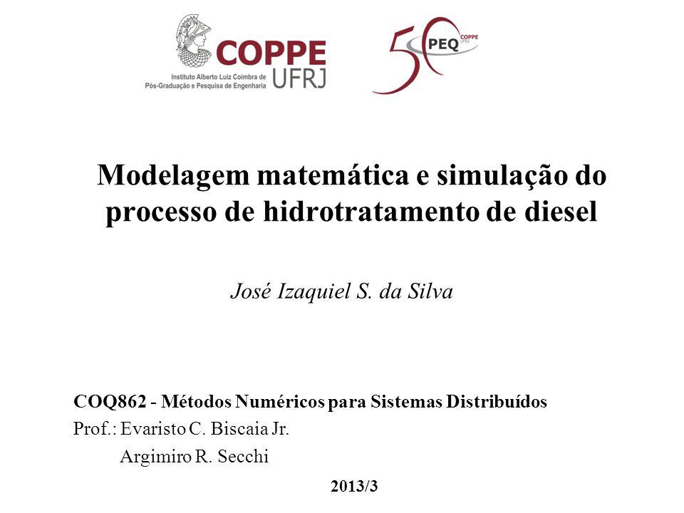 Modelagem matemática e simulação do processo de hidrotratamento de diesel José Izaquiel S. da Silva COQ862 - Métodos Numéricos para Sistemas Distribuí