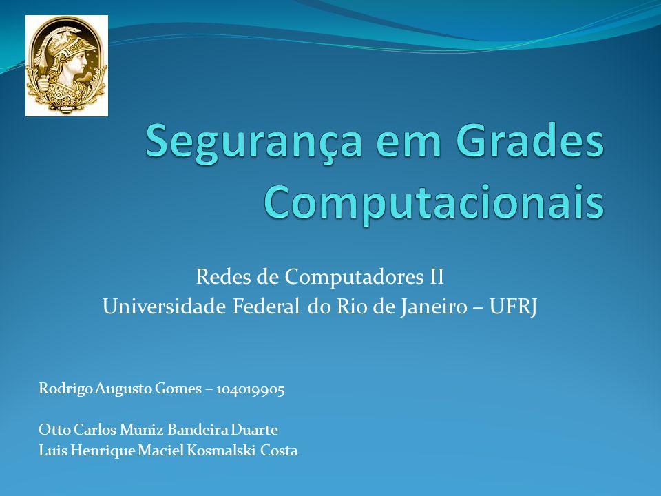 Redes de Computadores II Universidade Federal do Rio de Janeiro – UFRJ Rodrigo Augusto Gomes – 104019905 Otto Carlos Muniz Bandeira Duarte Luis Henrique Maciel Kosmalski Costa