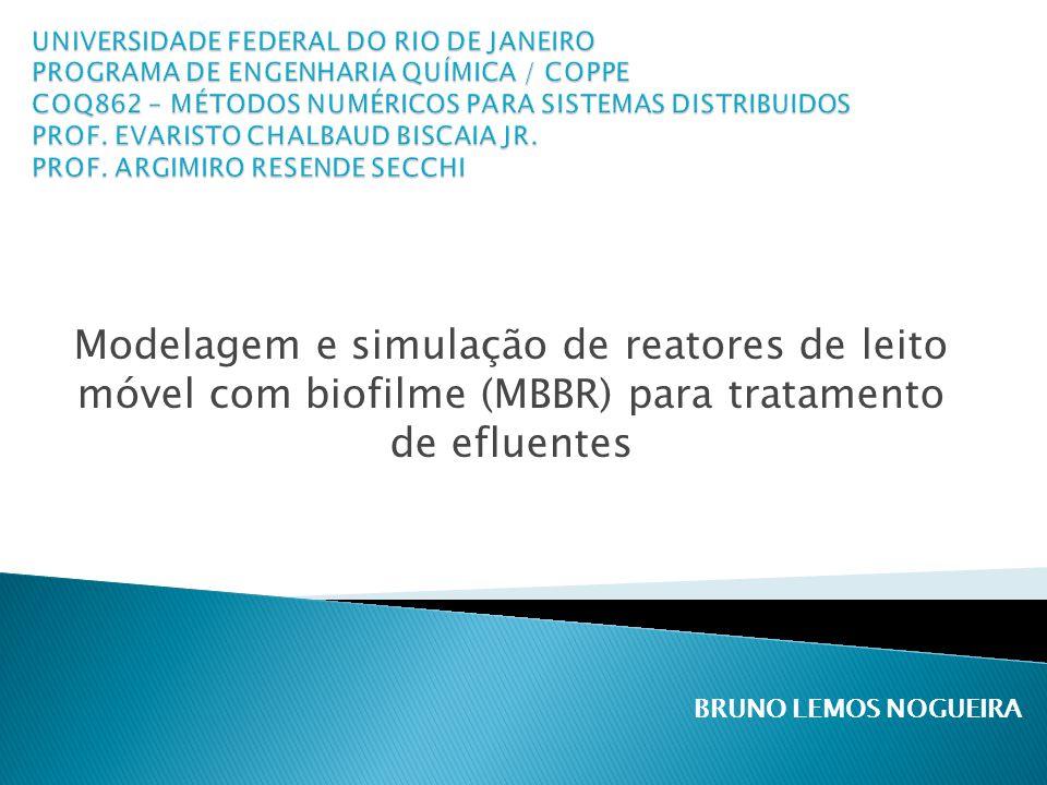 Modelagem e simulação de reatores de leito móvel com biofilme (MBBR) para tratamento de efluentes BRUNO LEMOS NOGUEIRA