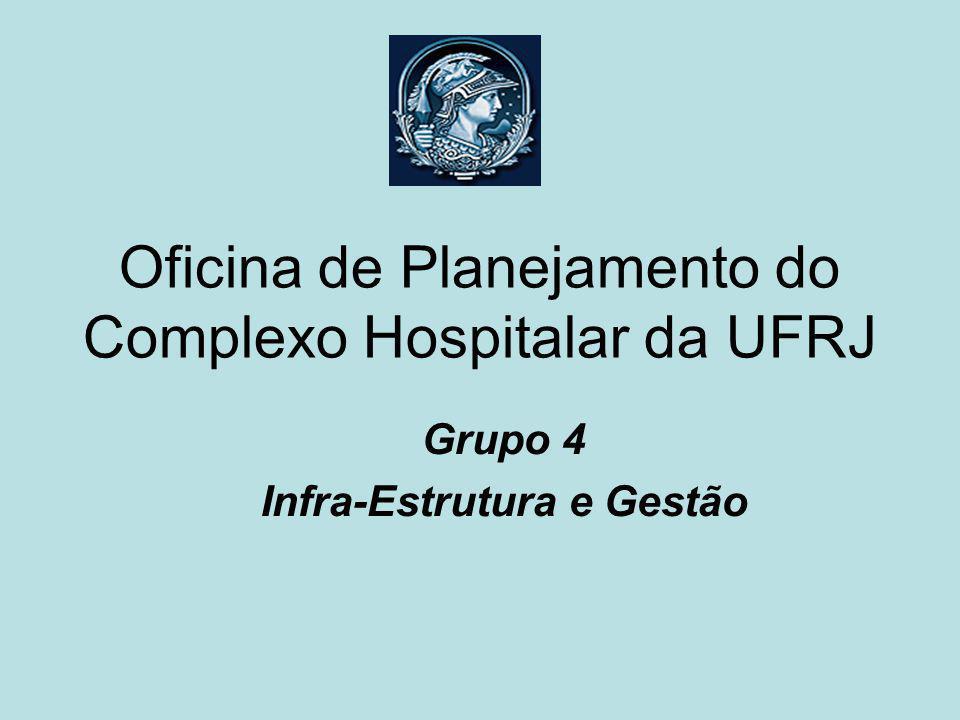 Oficina de Planejamento do Complexo Hospitalar da UFRJ Grupo 4 Infra-Estrutura e Gestão