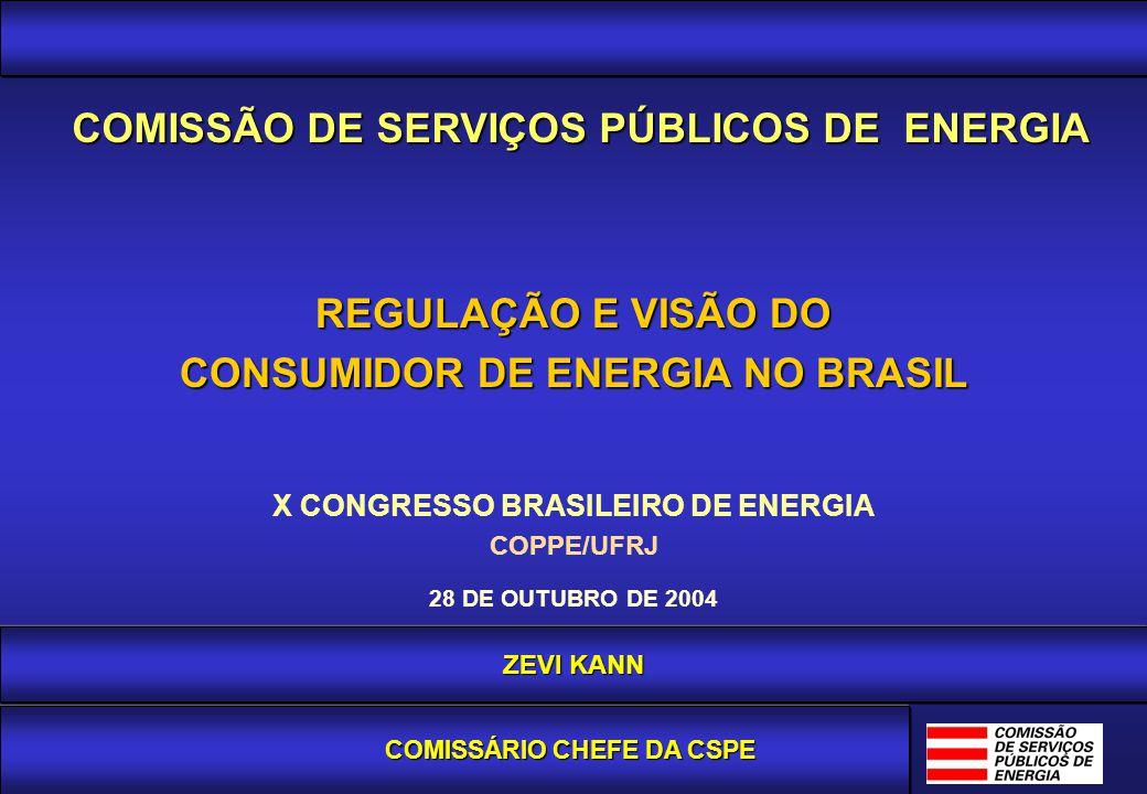 Agência Reguladora e Fiscalizadora dos Serviços de Energia Elétrica e Gás Canalizado do Estado de São Paulo ZEVI KANN COMISSÁRIO CHEFE DA CSPE REGULAÇ