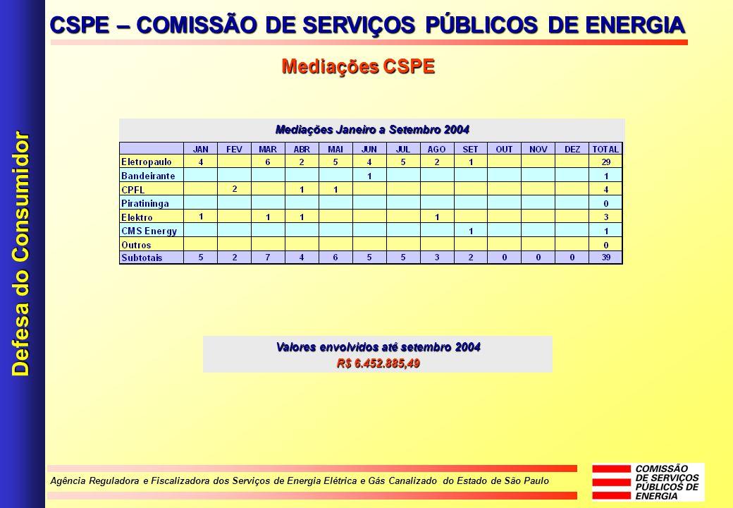 Agência Reguladora e Fiscalizadora dos Serviços de Energia Elétrica e Gás Canalizado do Estado de São Paulo CSPE – COMISSÃO DE SERVIÇOS PÚBLICOS DE EN