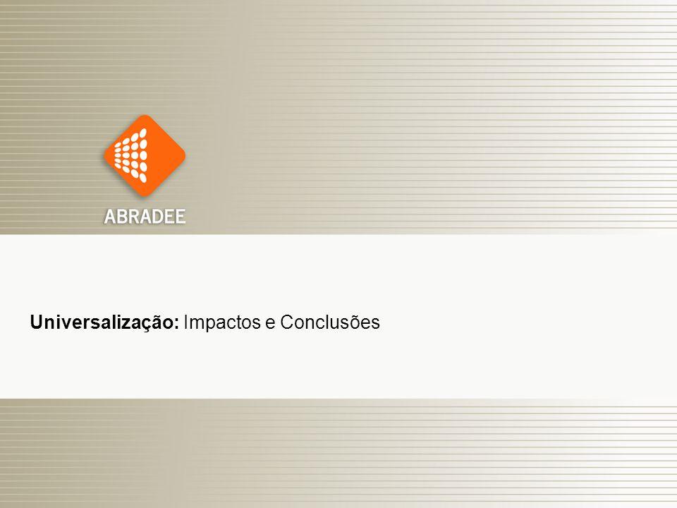 O Papel das Distribuidoras de Energia Elétrica 20 Universalização: Impactos e Conclusões