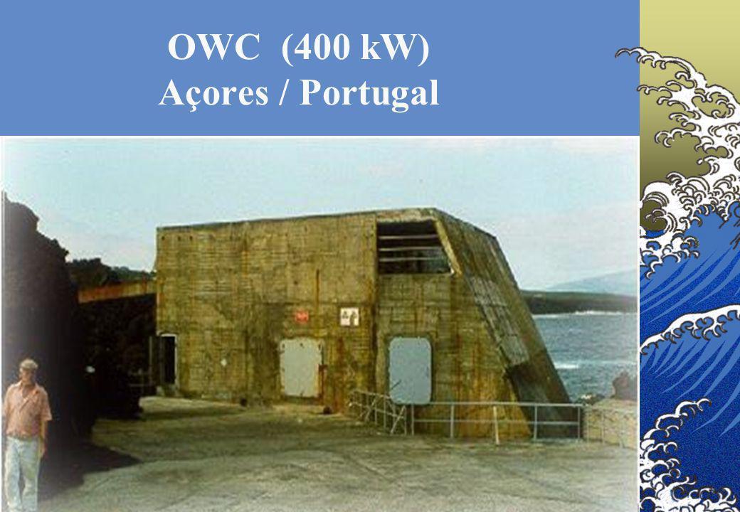 9 OWC (400 kW) Açores / Portugal