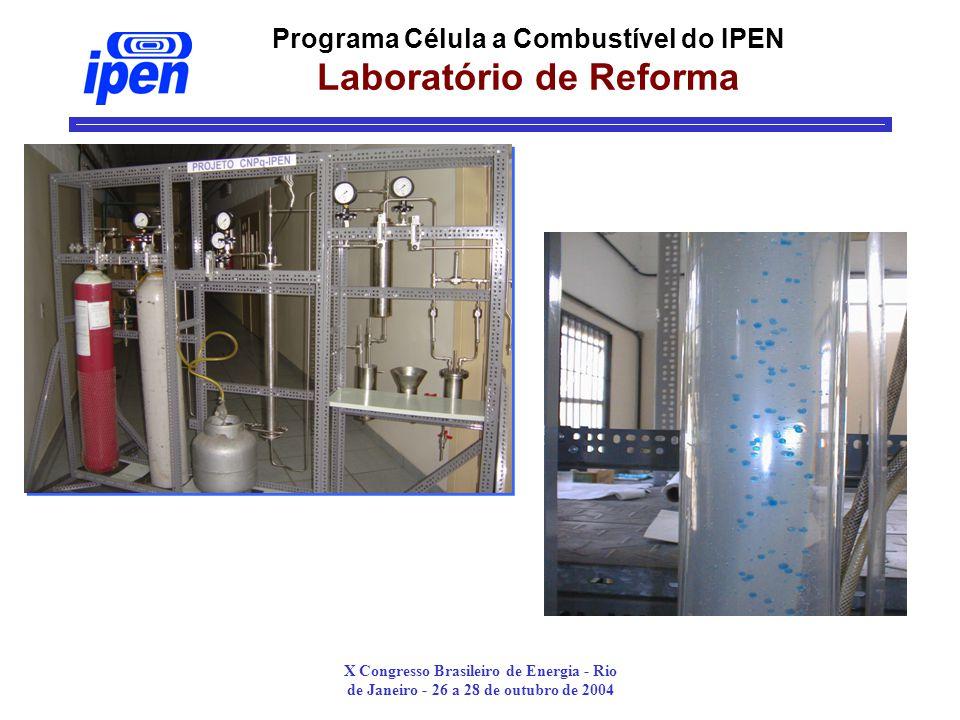 X Congresso Brasileiro de Energia - Rio de Janeiro - 26 a 28 de outubro de 2004 Programa Célula a Combustível do IPEN Laboratório de Reforma