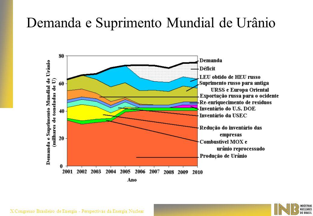 X Congresso Brasileiro de Energia - Perspectivas da Energia Nuclear Demanda e Suprimento Mundial de Urânio