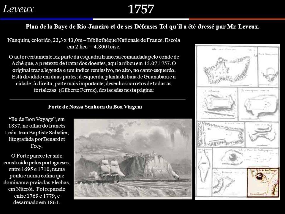 1744 Vue em perspective De Riougenaire, Ville de la Merrique merd.ne.le. dependente de Sa Mte. portugaise ou les flottes vont cherché l´or. Dessiné su
