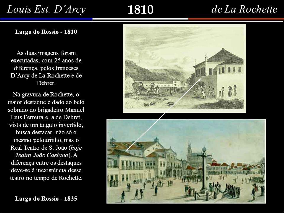 1807 Vue des terres qui environnent le port de Rio de Janeiro Duas importantes panorâmicas do Rio de Janeiro. Acima, em mar aberto, temos a entrada da