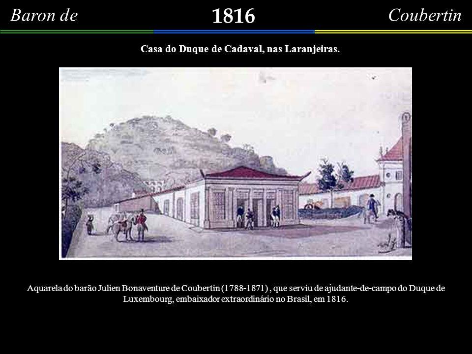 1810 Belíssima gravura, em buril (20,8 x 31,0cm), do coronel Louis Estanilas D´Arcy de La Rochette, francês, nascido no século XVIII. Representa o ant