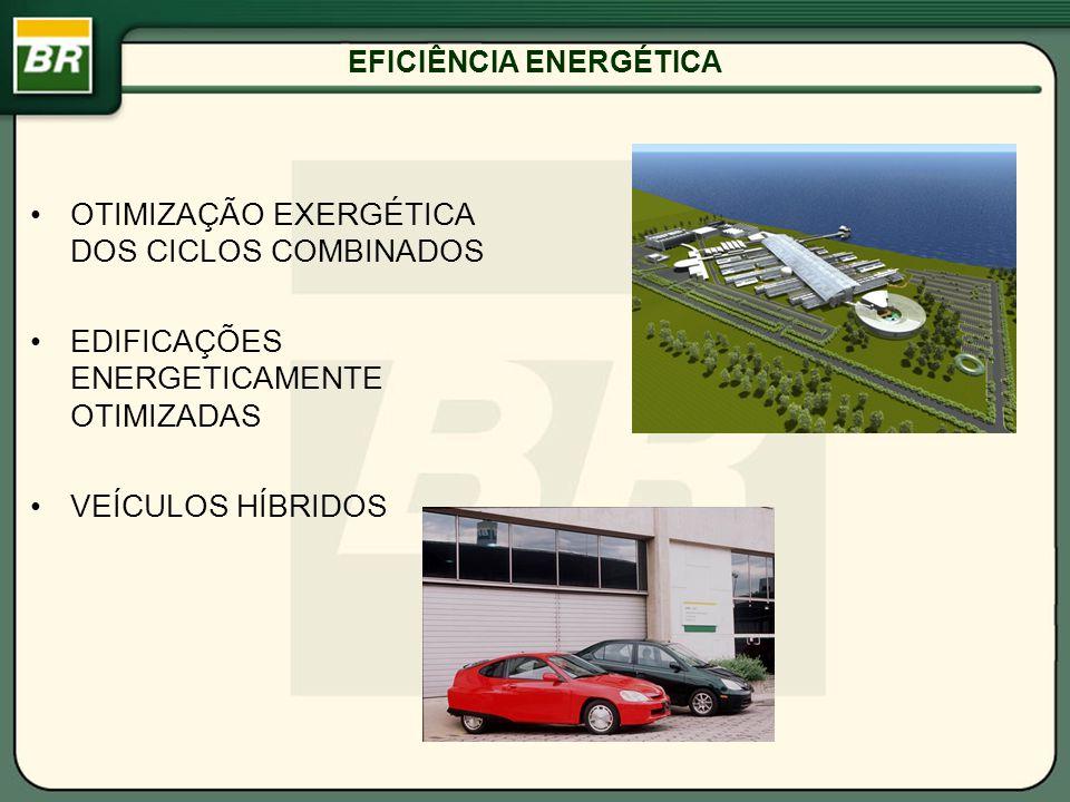 EFICIÊNCIA ENERGÉTICA OTIMIZAÇÃO EXERGÉTICA DOS CICLOS COMBINADOS EDIFICAÇÕES ENERGETICAMENTE OTIMIZADAS VEÍCULOS HÍBRIDOS