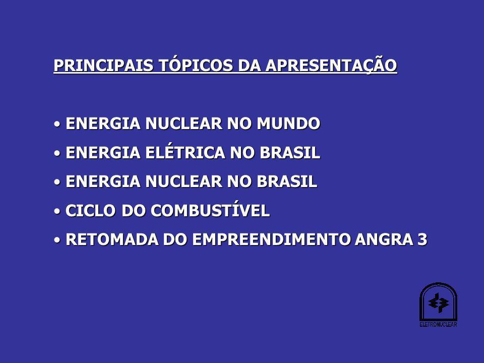CENTRAL NUCLEAR ALMIRANTE ÁLVARO ALBERTO - CNAAA ANGRA 1 ANGRA 2 ANGRA 3 RETOMADA DA CONTRUÇÃO DE ANGRA 3