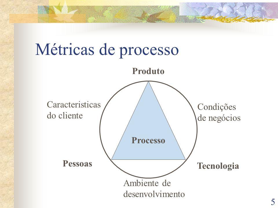 6 Métricas de Projeto Métricas de processo são usadas com objetivos estratégicos Métricas de projeto são usadas com objetivos objetivos táticos: Estimativas de tempo e esforço com base em experiências anteriores Aumento da qualidade e redução de defeitos Redução dos custos