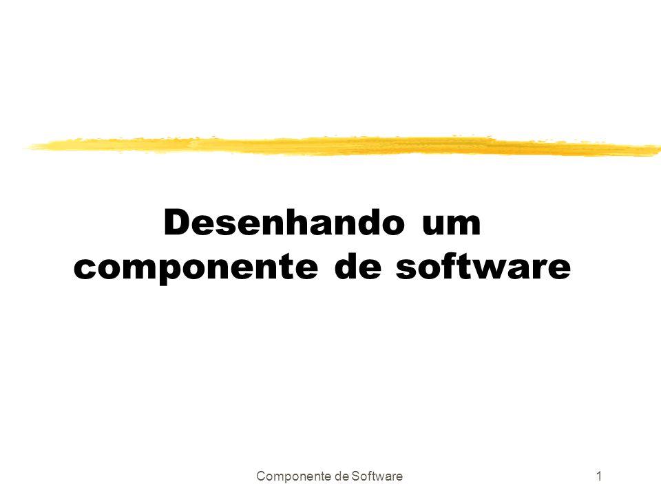 Componente de Software1 Desenhando um componente de software